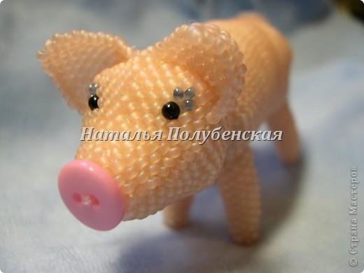 Cвинка Маня (игрушка из бисера) фото 3