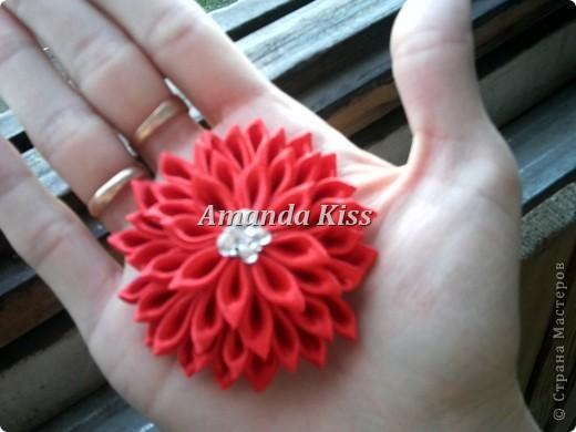Добрый день всем кто заглянул посмотреть на мою маленькую хризантемку. В моем МК я показывал ее уже,но из широкой ленты (5см). http://stranamasterov.ru/node/196648   фото 3