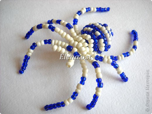 Как из бисера сделать паука?  Схема плетения для.