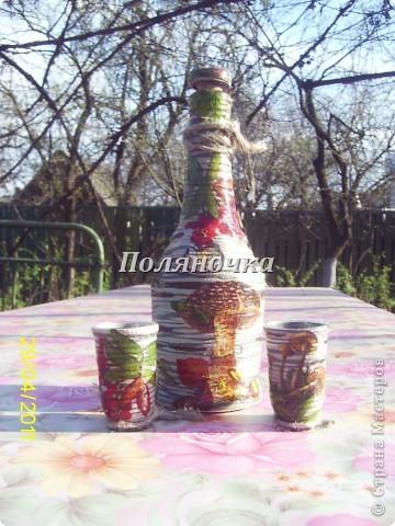 """Бутылка и две стопочки """"На природе""""  фото 1"""