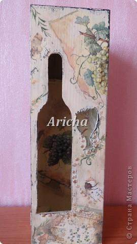 Испльзовала деревянную заготовку, акриловые краски, салфетки, лак на водной основе. фото 2