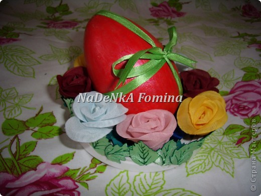 Пасхальная компазиция(Подставка для яйца и салфетки) фото 3