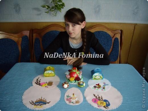 Пасхальная компазиция(Подставка для яйца и салфетки) фото 4