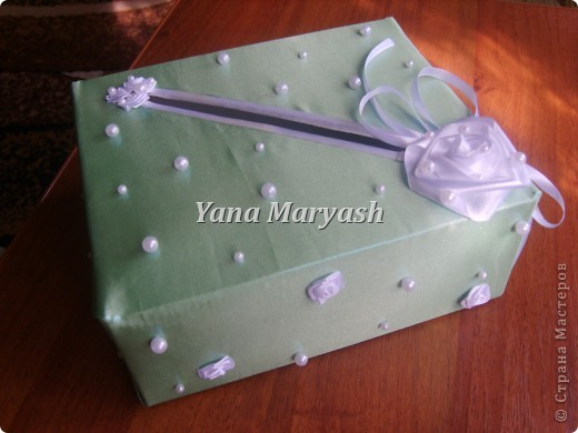 Подготовка к свадьбе продолжается... Вот сотворила я еще одну штуку - банк для денег, то есть для подарочных конвертов=) фото 2