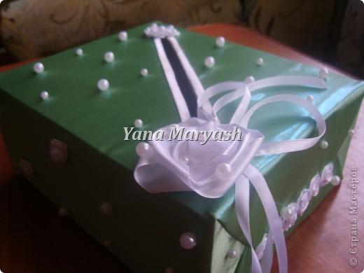 Подготовка к свадьбе продолжается... Вот сотворила я еще одну штуку - банк для денег, то есть для подарочных конвертов=) фото 3