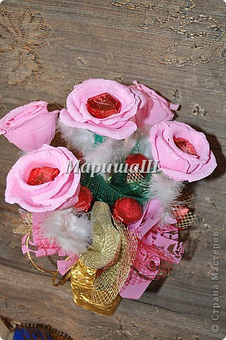 "Букет из конфет ""Роза"" фото 3"