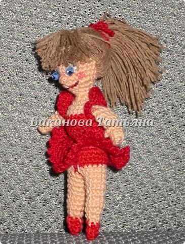 Вязанная куколка-балеринка