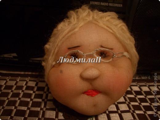 Голова для куклы.Глазки-бусинки. фото 1