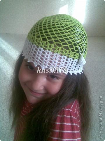 топы и шапочки для любимых девчонок (одни из первых работ крючком) фото 2