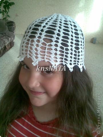 топы и шапочки для любимых девчонок (одни из первых работ крючком) фото 3