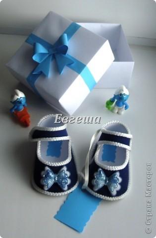 Сувенирные сандалики для новорожденных фото 1