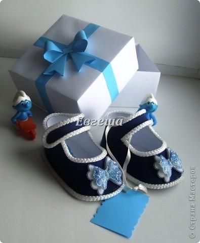 Сувенирные сандалики для новорожденных фото 3