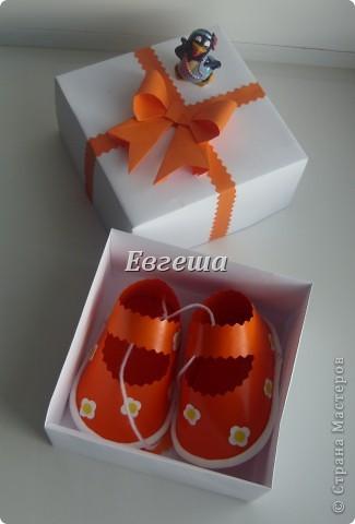 Сувенирные сандалики для новорожденных фото 7