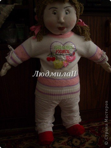 Как сшить быстро куколку?Я сшила ползунки и кофточку вместе. фото 8