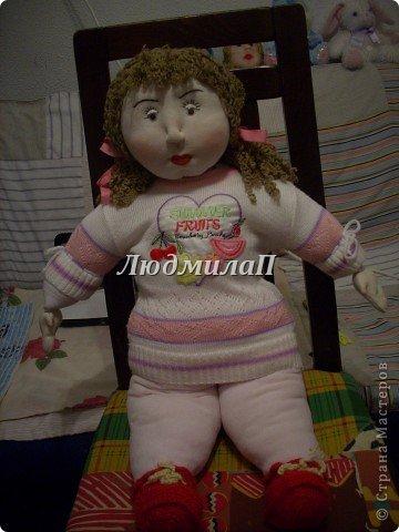 Как сшить быстро куколку?Я сшила ползунки и кофточку вместе. фото 9