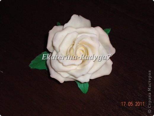 размер броши 10см, сама роза ~ 7.5 см фото 3