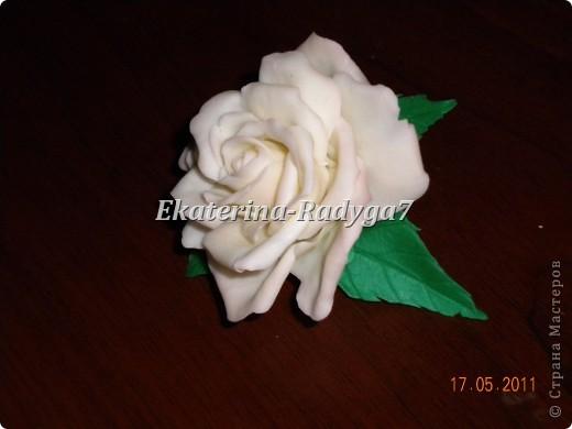 размер броши 10см, сама роза ~ 7.5 см фото 4