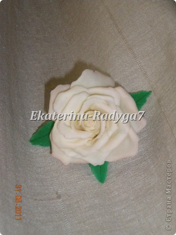 размер броши 10см, сама роза ~ 7.5 см фото 2