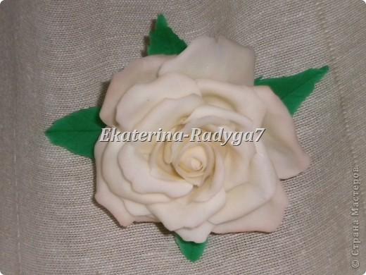 размер броши 10см, сама роза ~ 7.5 см фото 1