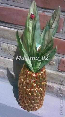 Попросили сделать подарок на свадебный конкурс-получился вот такой ананасик фото 2