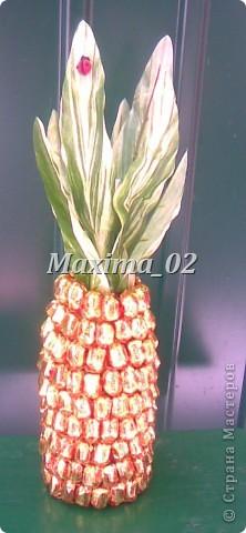 Попросили сделать подарок на свадебный конкурс-получился вот такой ананасик фото 1