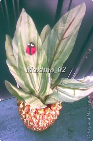 Попросили сделать подарок на свадебный конкурс-получился вот такой ананасик фото 4
