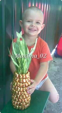 Попросили сделать подарок на свадебный конкурс-получился вот такой ананасик фото 5