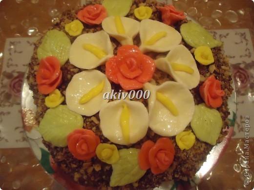 Вот такой тортик я сделала  мужу на День рождение. фото 1