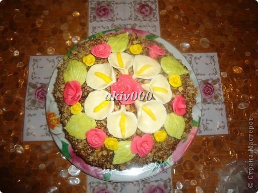 Вот такой тортик я сделала  мужу на День рождение. фото 3