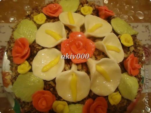 Вот такой тортик я сделала  мужу на День рождение. фото 2
