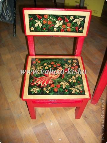 хохлома (детский стул и стол) фото 2