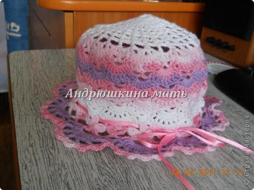 Летняя шляпка крючком фото 3
