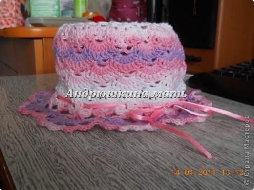 Летняя шляпка крючком фото 1