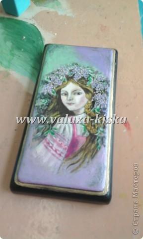 шкатулка федоскино-для защиты по миниатюрной росписи!) фото 1