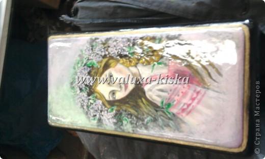 шкатулка федоскино-для защиты по миниатюрной росписи!) фото 2