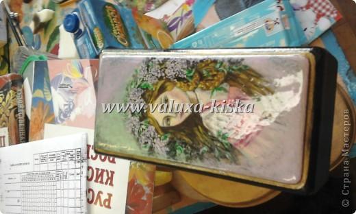 шкатулка федоскино-для защиты по миниатюрной росписи!) фото 3