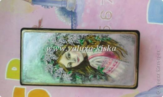 шкатулка федоскино-для защиты по миниатюрной росписи!) фото 5