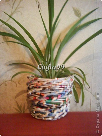 Кашпо плетенка фото 1