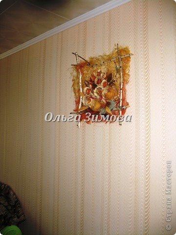 Цветы на панно -сухие апельсиновые корки и корки плодов помело. фото 5
