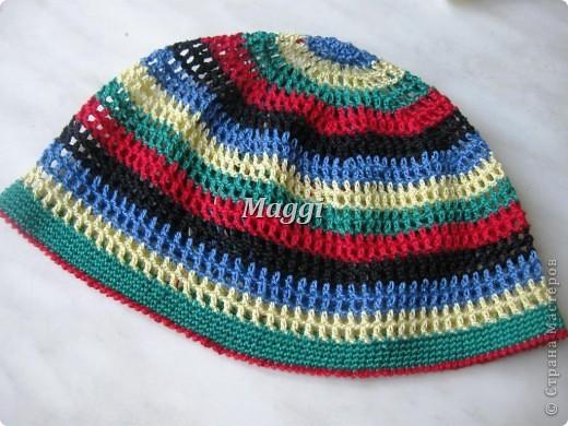 Легкая детская шапочка на весну. фото 3