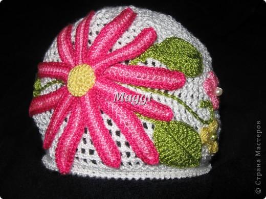 Легкая детская шапочка на весну. фото 1