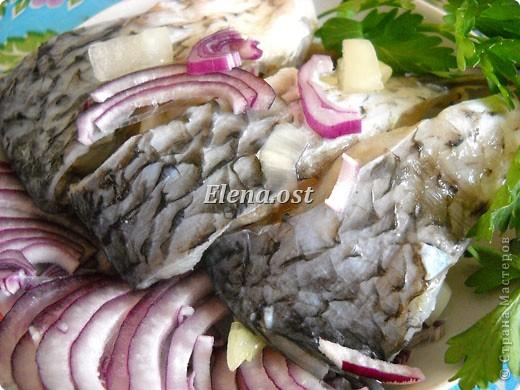"""Саламур или рыба маринованная. Еще можно назвать """"селедочка по-домашнему"""". Мой любимый рецепт приготовления рыбы. Рыбку можно брать любую. Особенно хороши: карп, карась, тарань, окунь, щука, судак.  фото 1"""