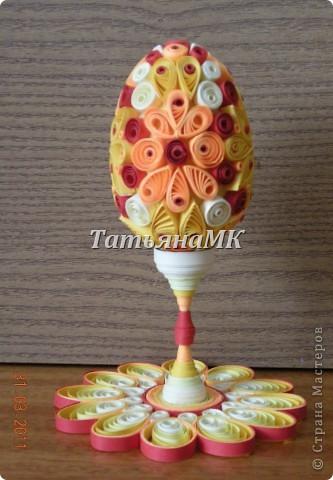 1. Вот такое пасхальное яйцо с подставочкой я сделала к этому светлому празднику! фото 2