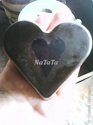 """Мыло в виде сердца с эфирными маслами бергамота и грейпфрута.А внутри плавают))))сердечки из """"шоколадной""""основы. фото 4"""