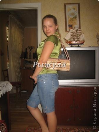 Увидела у Л. Надточиевой сумочку из салфеток и решили с дочкой тоже сделать и сделали! фото 5