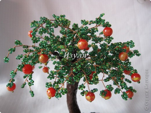 МК яблоньки из бисера Бисероплетение.