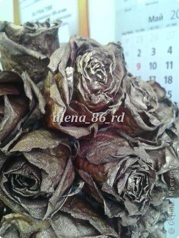 Топиарий из сушеных роз фото 2
