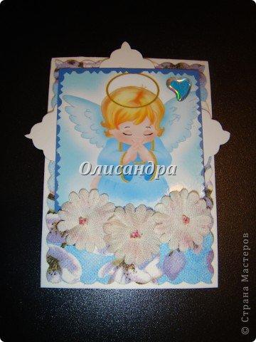 """Ангелы ... Думаю,что ангелы бывают разные... С """"серебряными"""" я Вас уже знакомила...  http://stranamasterov.ru/node/179453?t=1743 А сегодня хочу представить """"Яблочных ангелов""""... Название родилось само собой, когда я решила, что фоном будет салфетка с яблочным мотивом... фото 3"""