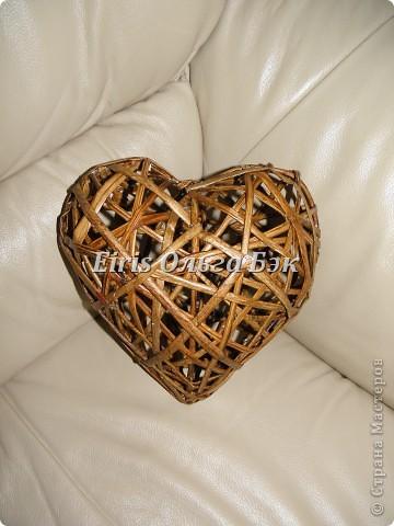 Картина панно рисунок Плетение Плетеное сердце из газетных трубочек Бумага Бумага газетная Бусины фото 6