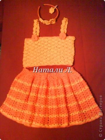комплект для крестницы (юбка, топик, ободок, заколка) фото 2